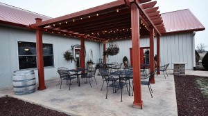 Willow Ridge Winery Outside Patio Pergola